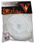 Stove Rope Replacement Kit-6mm Dia.White Fire Rope+Adhesive